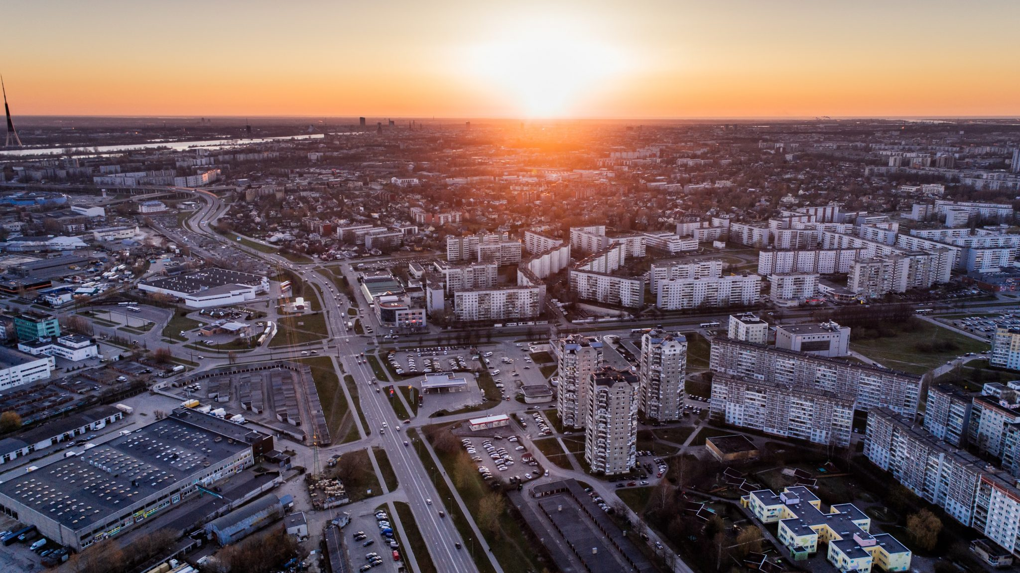 Aerial View Real Estate Investing